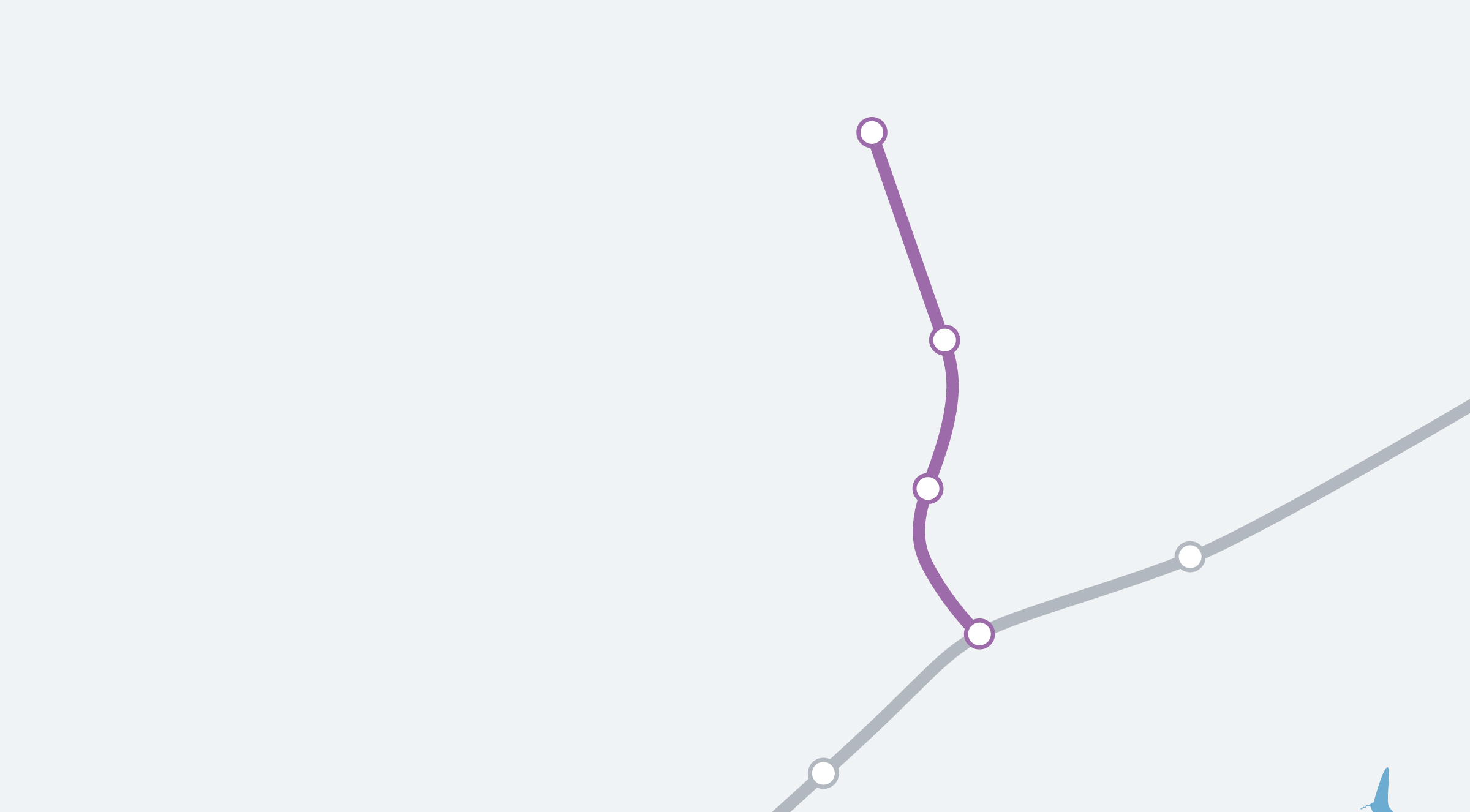 The Gainsborough Line Map