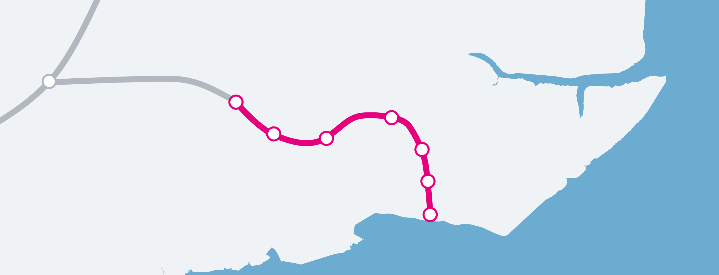 The Southend Line Map