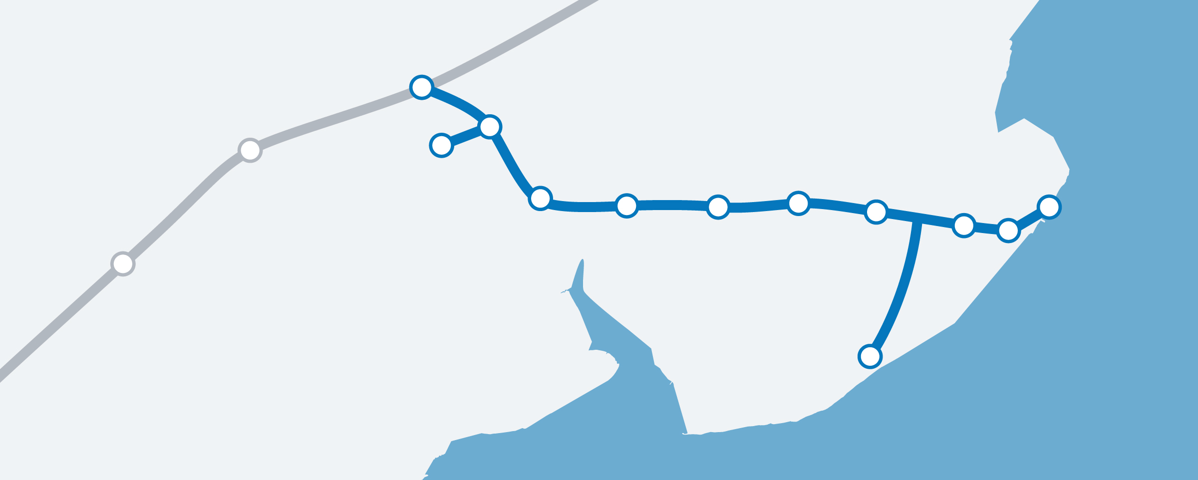 The Sunshine Coast Line Map