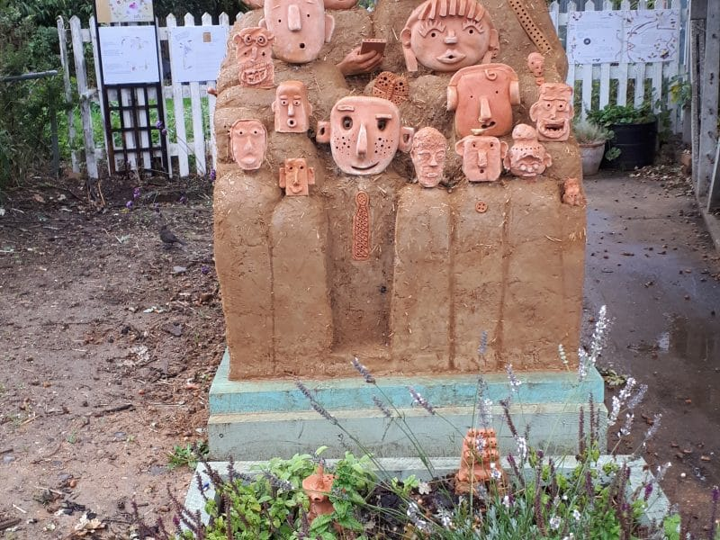 Bee friendly sculpture
