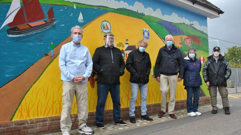 Station volunteers who organised the new mural
