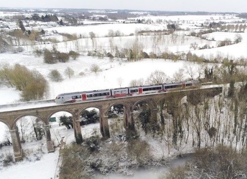 Greater Anglia Bi-mode on Chappel Viaduct